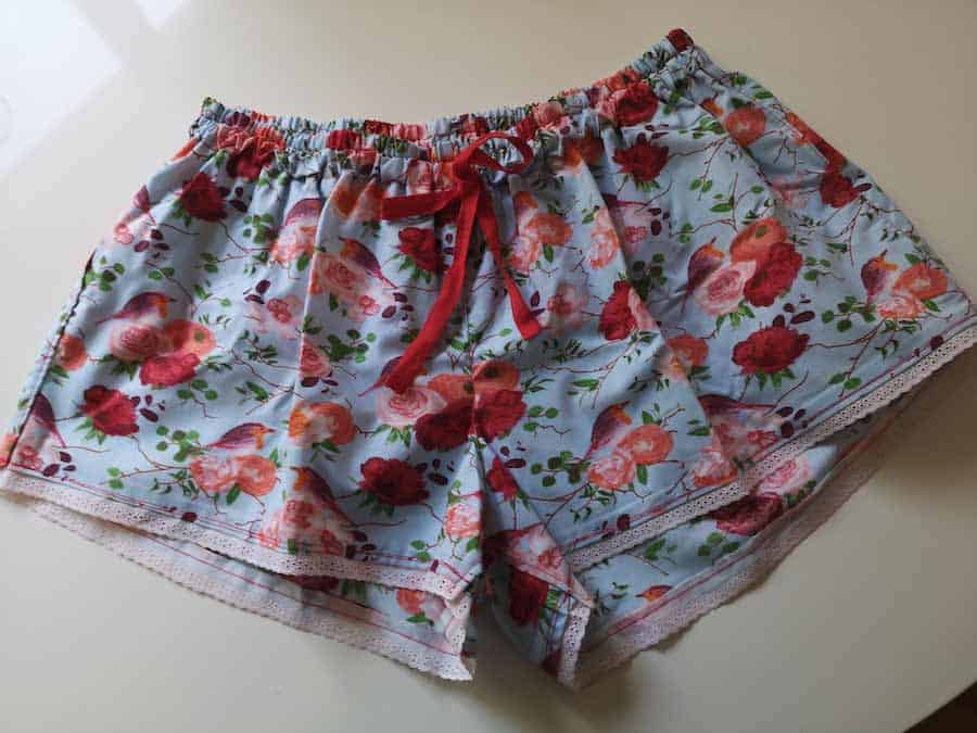 How to Sew Women's Sleep Shorts With Free Pattern