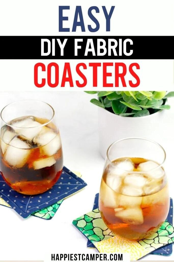 Easy DIY Fabric Coasters