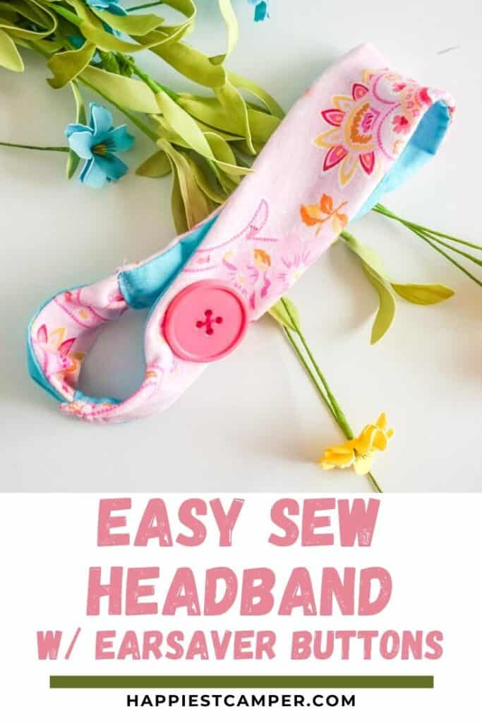 Easy Sew Headband With Ear Saver Buttons