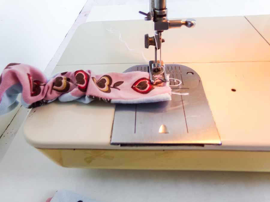 sewing elastic for headband