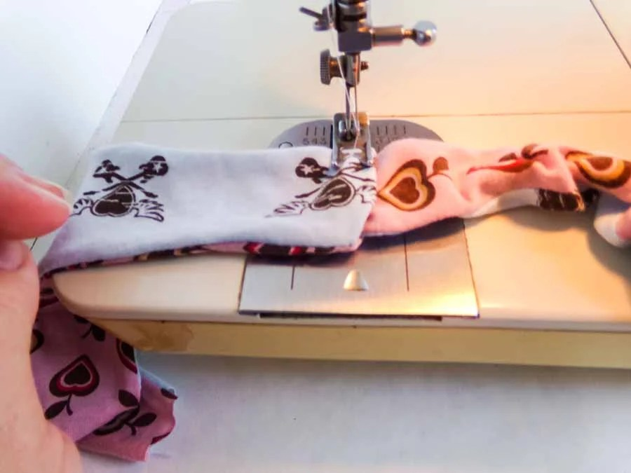 sewing headband together