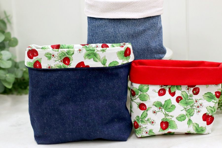 various sizes and fabric of diy storage bins