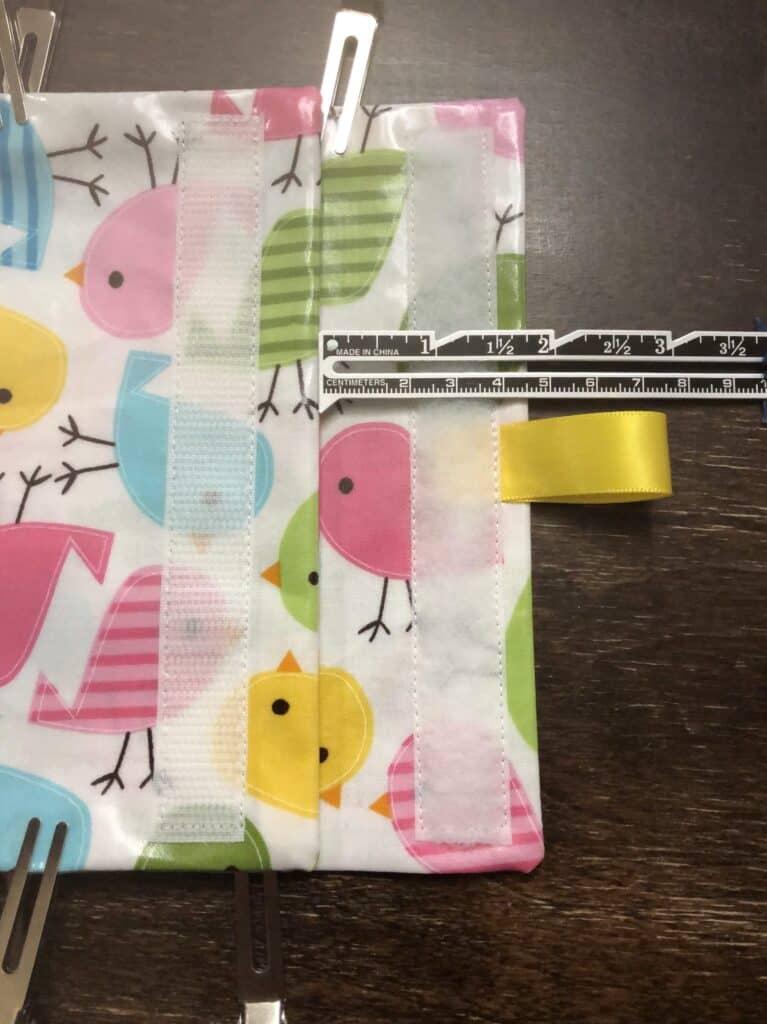 add flap for reusable sandwich bag