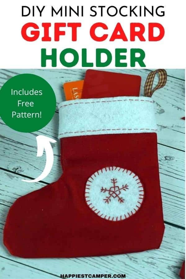 DIY Mini Stocking Gift Card Holder With Pattern