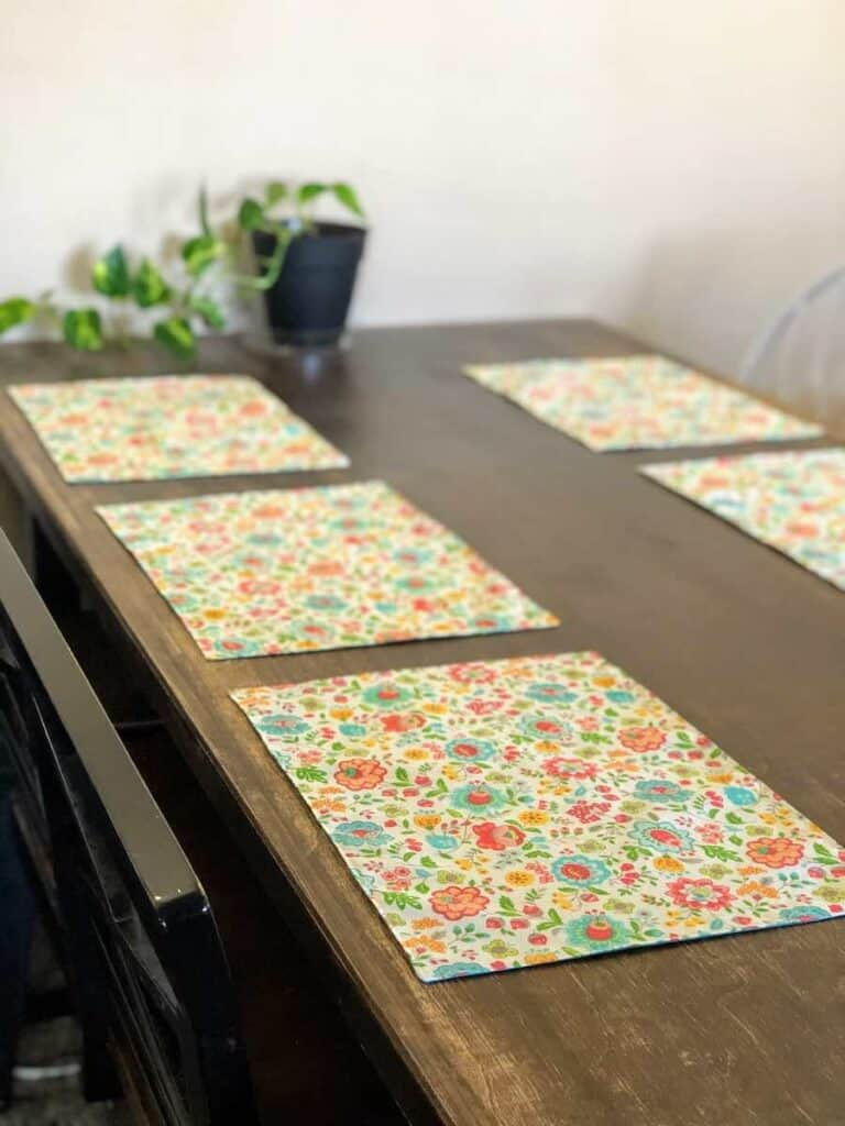 finished DIY Reversible Placemats