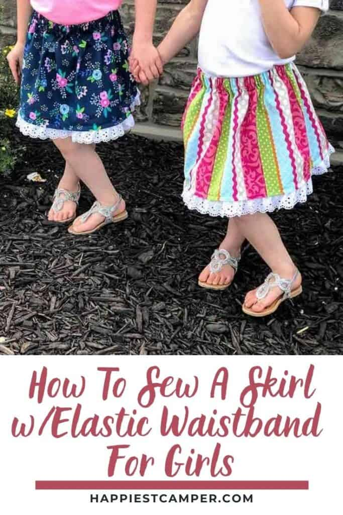 How To Sew A Skirl With Elastic Waistband For Girls.