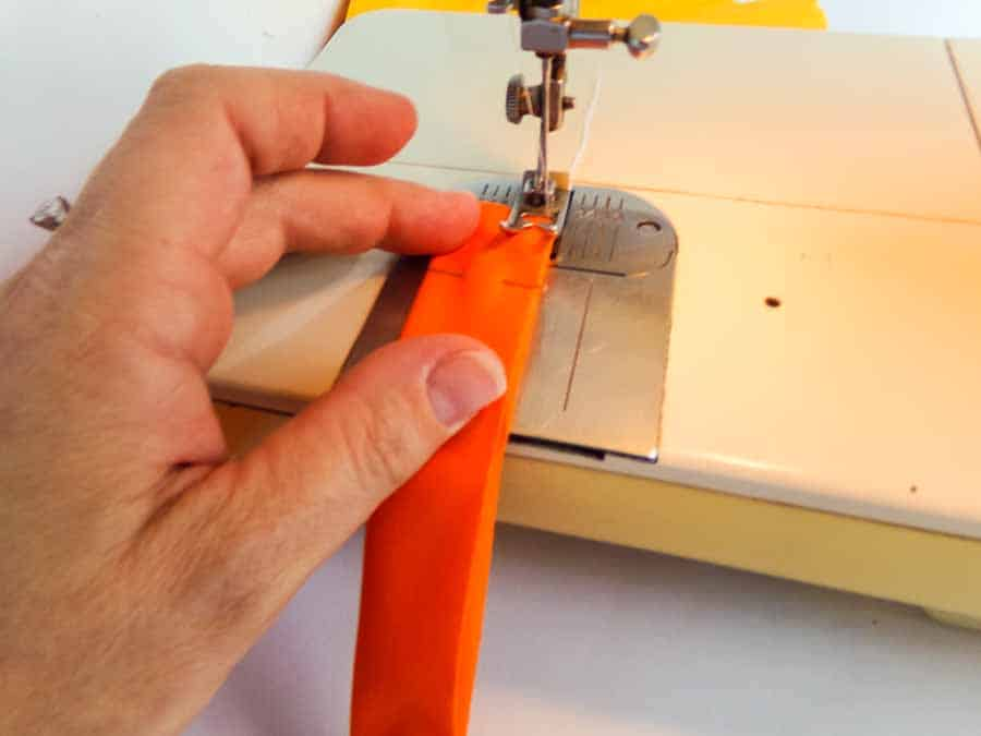 sewing handles forHalloween candy corn tote