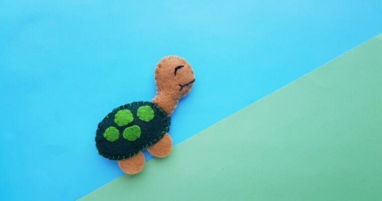 Easy Felt Turtle Baby Toy With Free Pattern