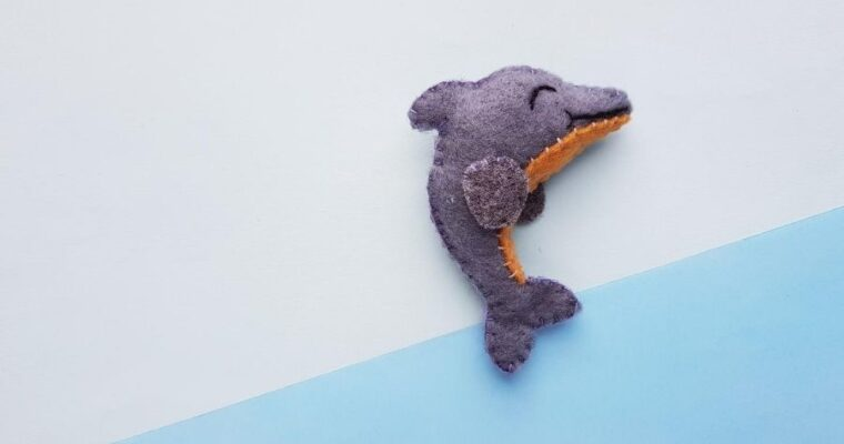 DIY Felt Dolphin With Free Template