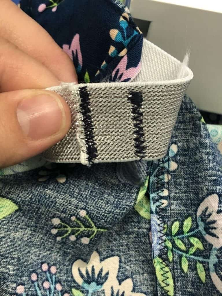 double sewing the elastic