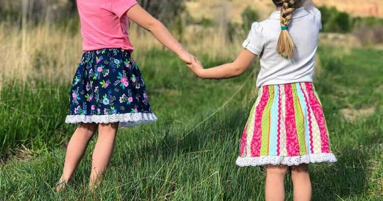 How To Sew A Skirt With Elastic Waistband For Girls
