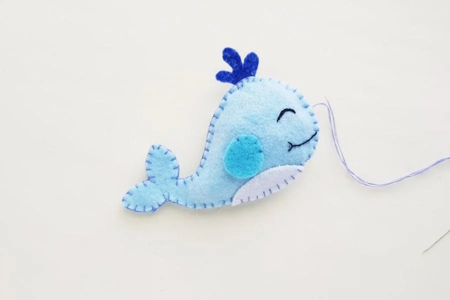 How To Make A Felt Whale with Free Pattern
