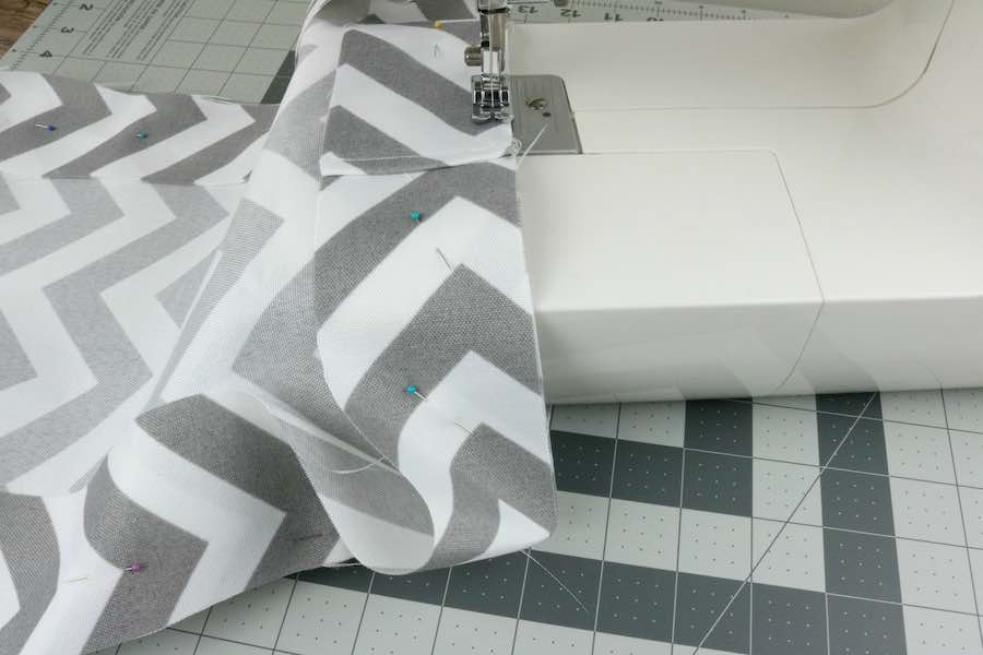 Sew together starting at center seam