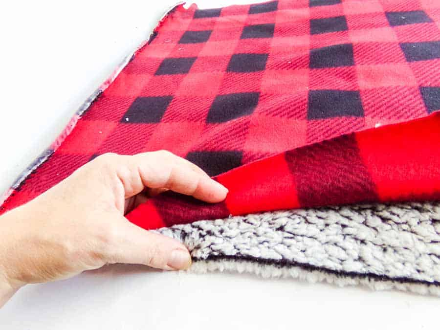 making cuff for No-Sew Fleece Hat
