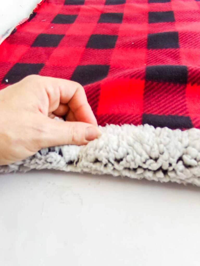 folding cuff for No-Sew Fleece Hat