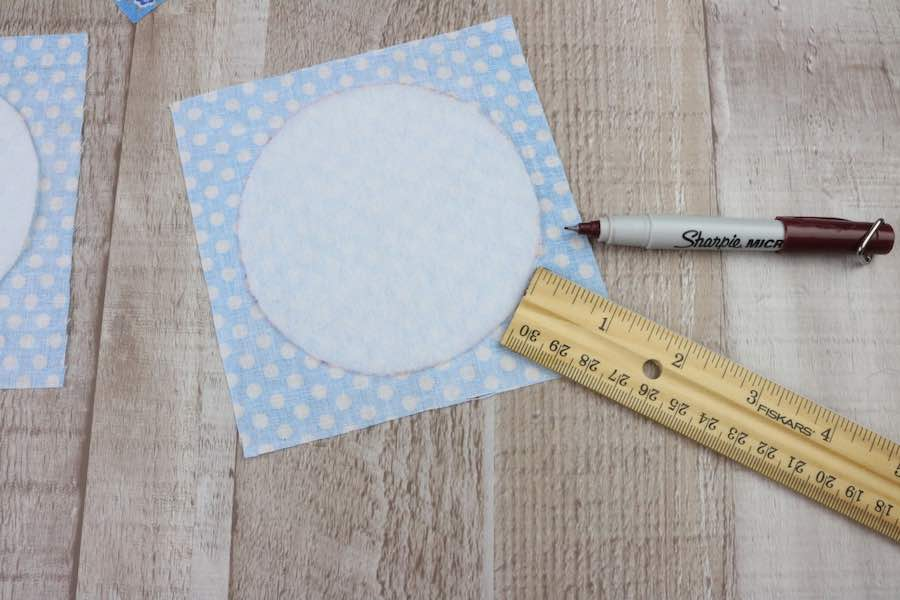 Use the ruler to make dots 1/4