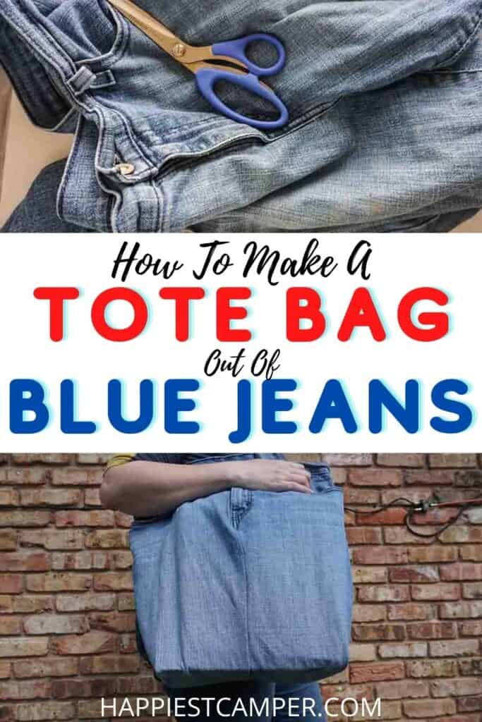 How To Make A Tote Bag Out Of Blue Jeans