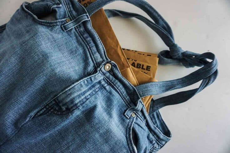 Blue Jean Tote Bag
