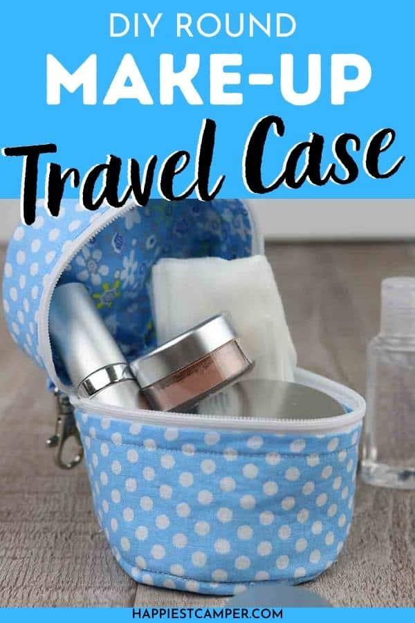 DIY Round Make-Up Travel Case Tutorial