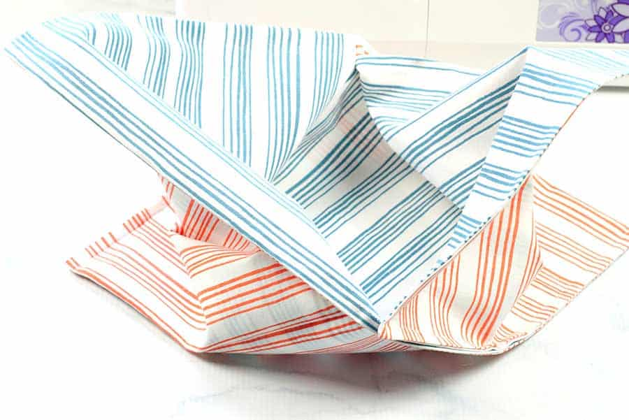 open the Easy Sew DIY Origami Bag