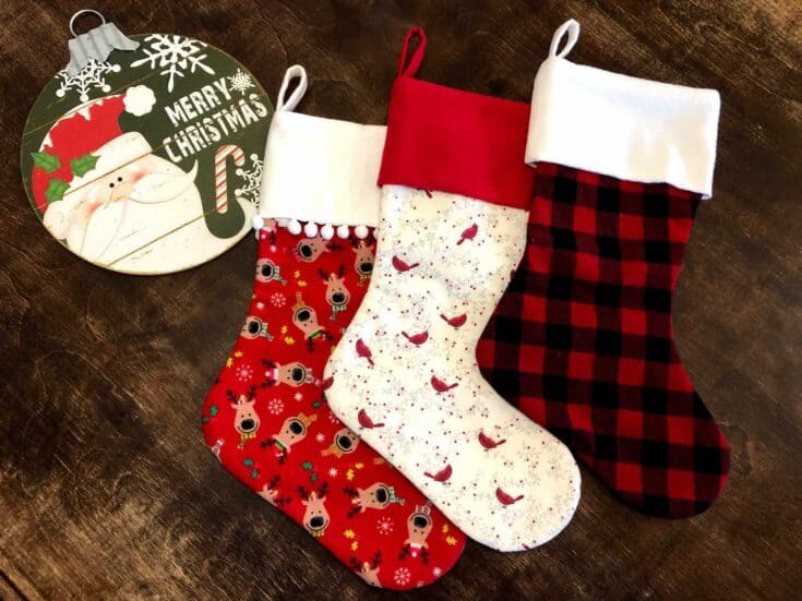 Sew a Christmas Stocking Completed