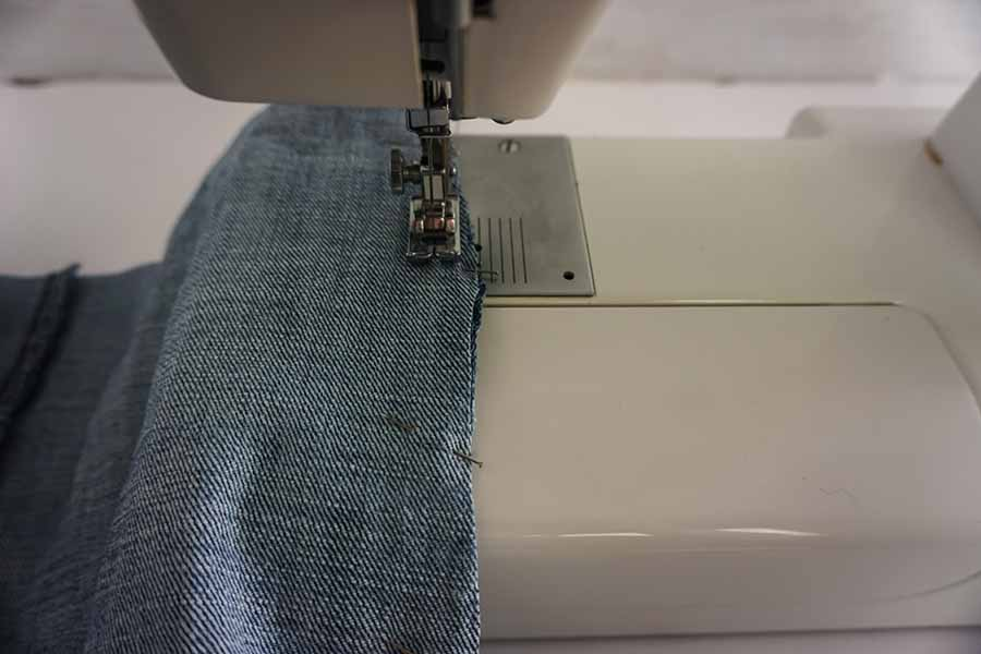 reinforce stitch for blue jean tote