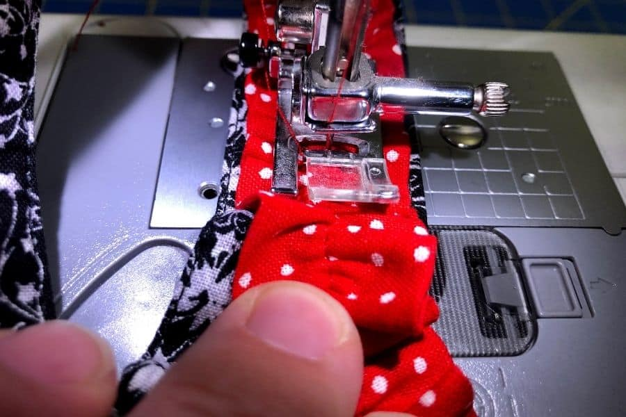 adding seam down the middle
