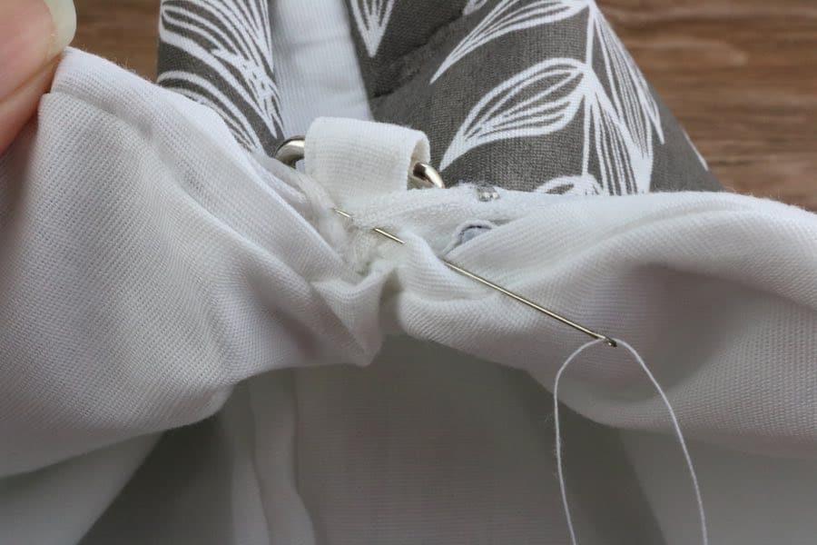 hand sew zipper for round purse