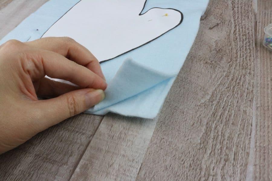 folding the fabric