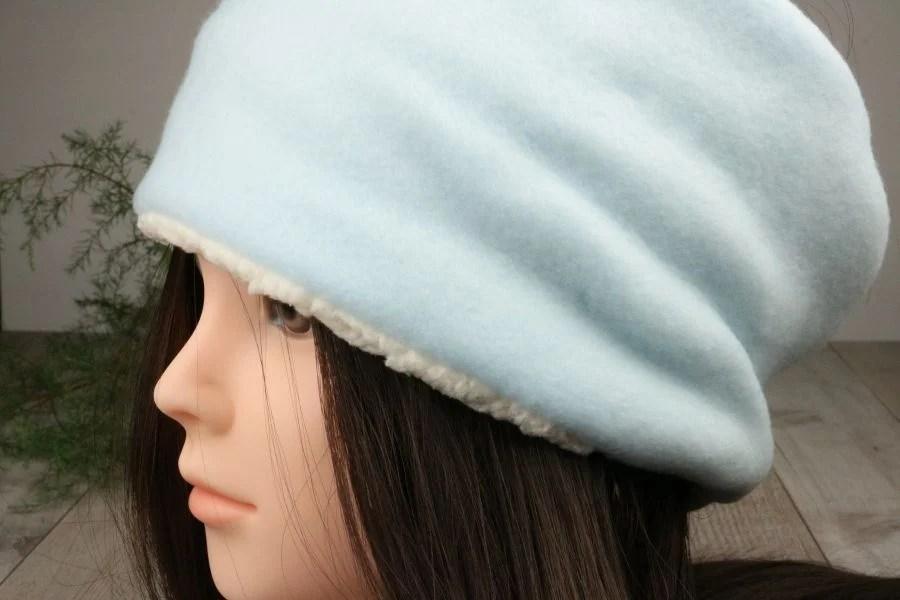 girl wearing  winter headband