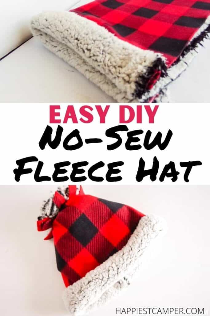 Easy DIY No-Sew Fleece Hat