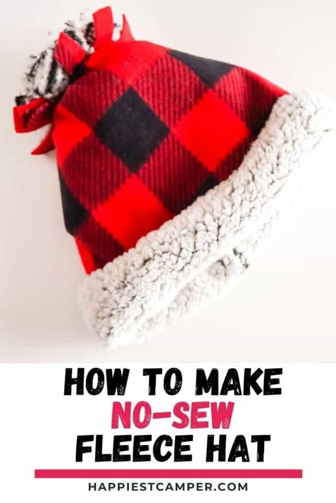 How to Make a No-Sew Fleece Hat