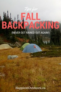 Tips for Fall Backpacking Trips. Make your fall backpacking trip a success. How to stay warm and avoid rain on fall backpacking trips.