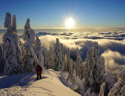 Snowshoeing on Grouse Mountain in Vancouver, BC. Find out how to have a safe and fun hike with these 8 tips for winter hiking.
