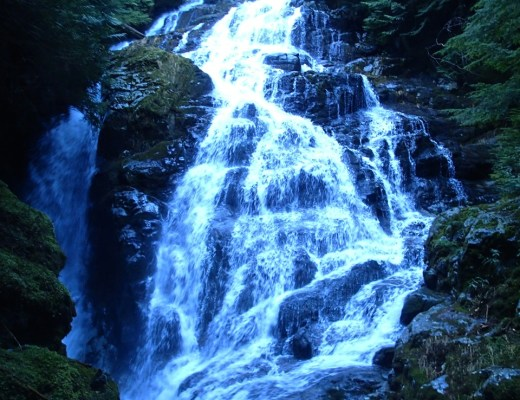 Kennedy Falls on lower Mount Fromme