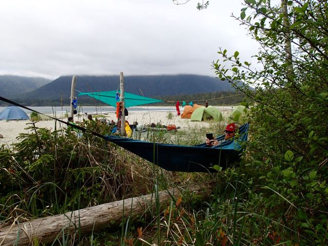 Hammock lounging at Cow Bay on Flores Island