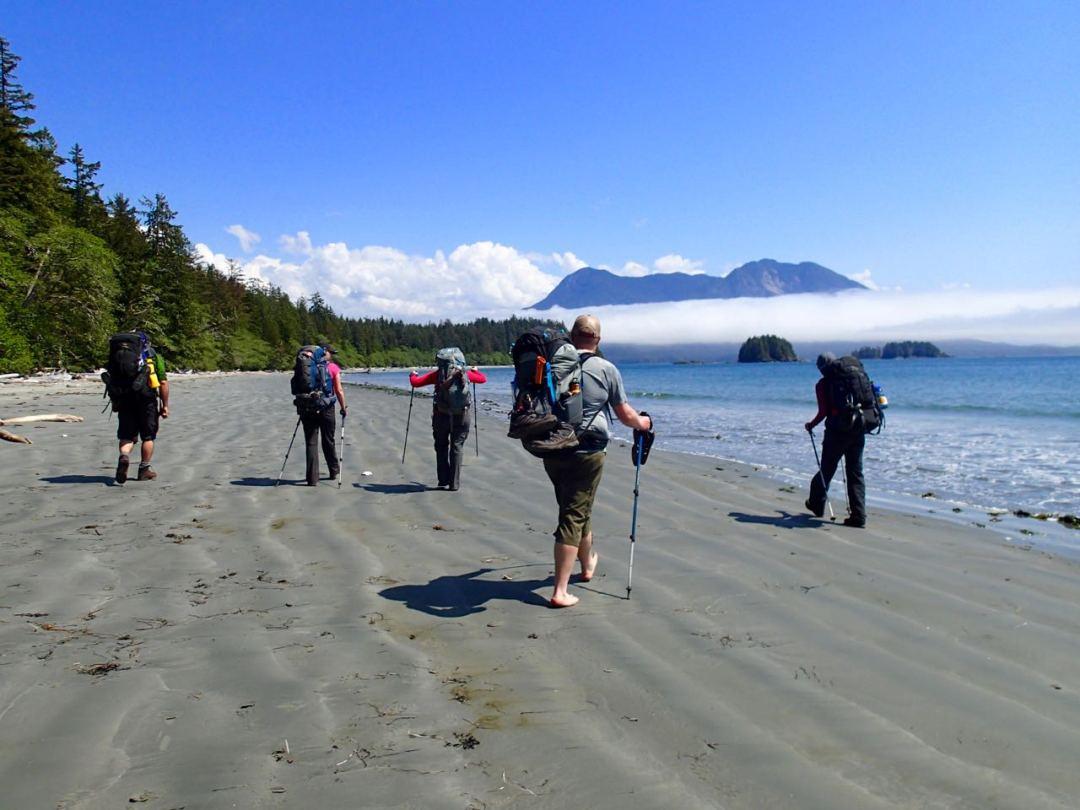 Beach hiking on the Walk the Wildside Trail
