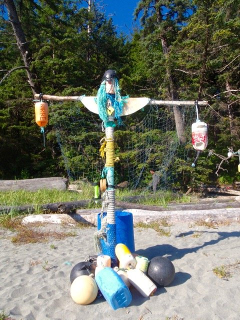 Art at Third Beach on the Nootka Trail