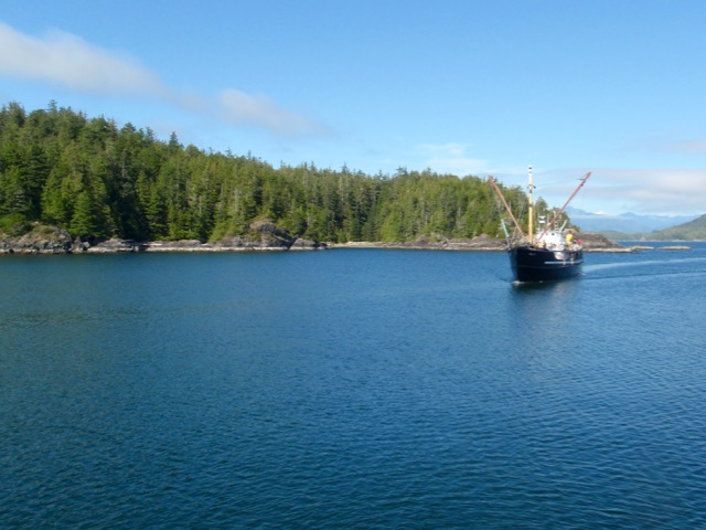 The MV Uchuck III arriving in Yuquot