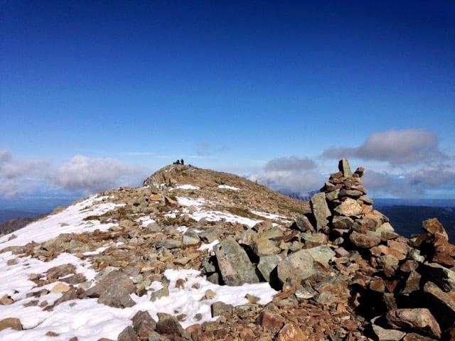 Summit ridge of Mount Albert Edward