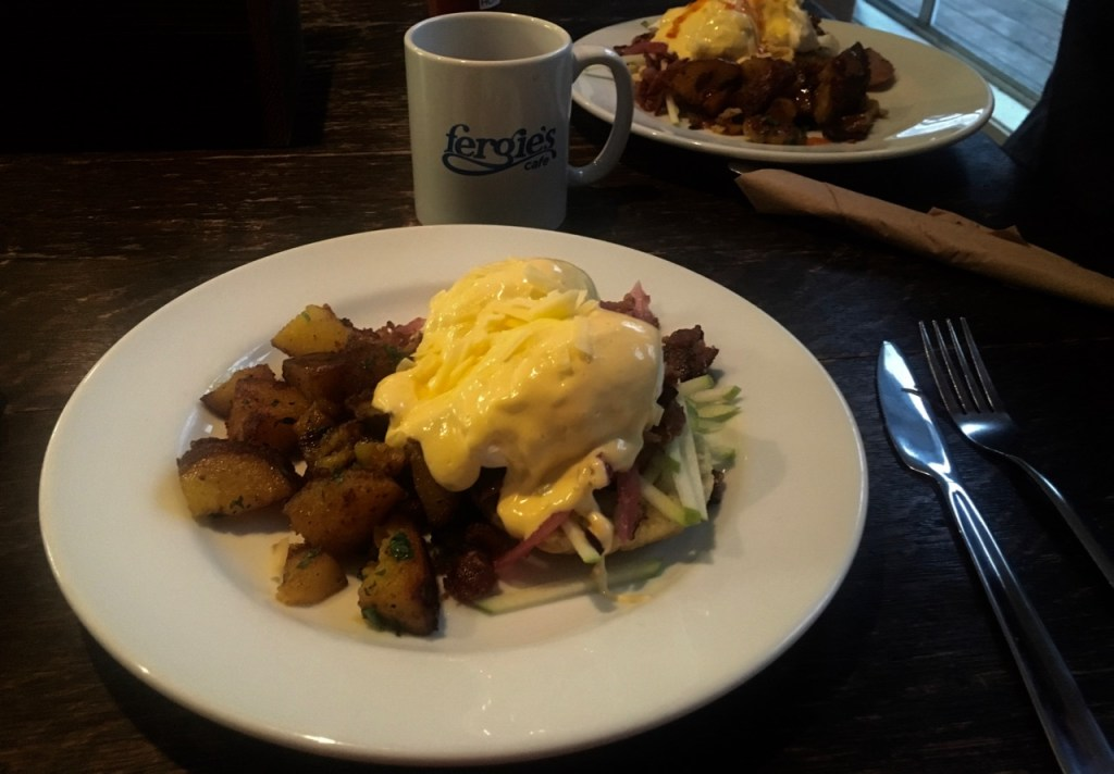 Breakfast at Fergie's cafe in Squamish