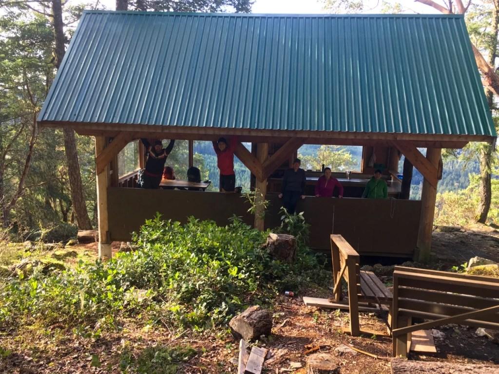 Backpacking the Sunshine Coast Trail - Manzanita Bluff Hut