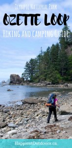 Your complete guide to hiking and camping the Ozette Loop in Olympic National Park. Backpacking in Olympic National Park on the Ozette Triangle. Hike to Sand Point and Cape Alava. #ozette #olympicnationalpark #capealava