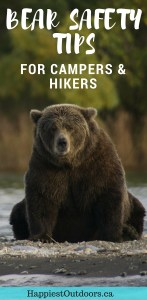 Bear safety tips for campers and hikers. #bearsafety #camping #hiking