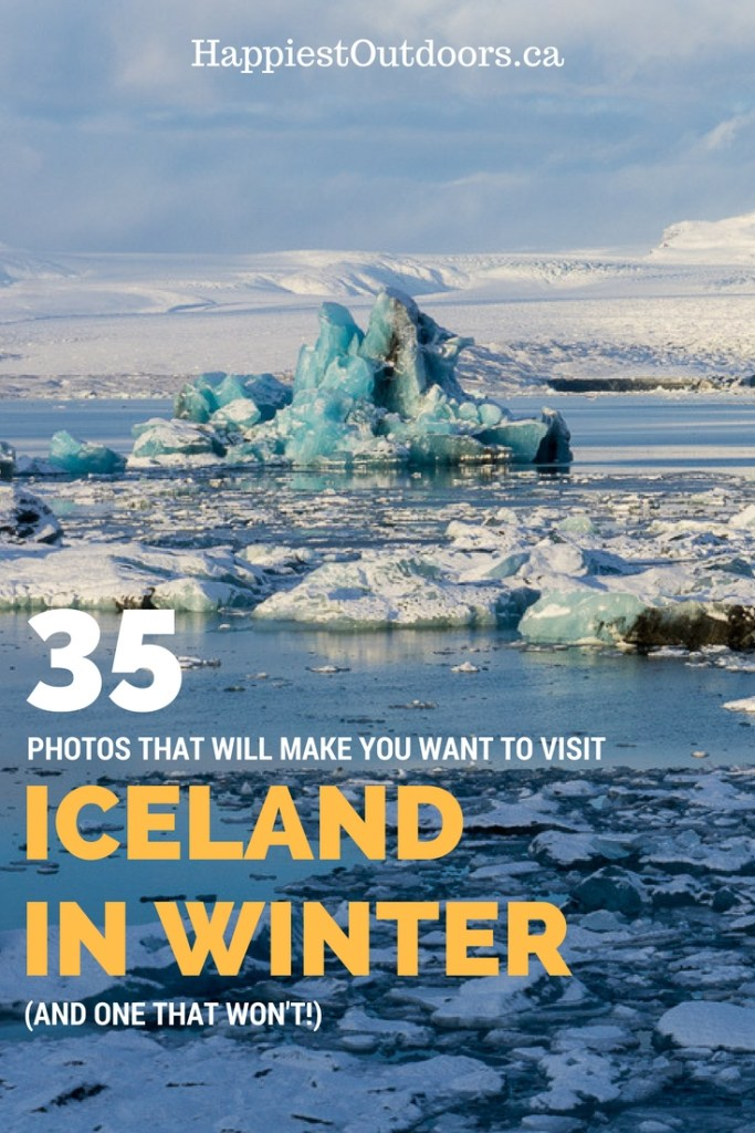 35 Photos that will make you want to visit Iceland in winter... and one that won't! A winter weekend in Iceland. Photos of winter in Iceland.