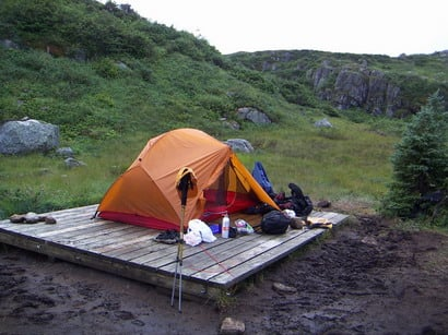 Hiking the Long Range Traverse in Gros Morne National Park in Newfoundland.