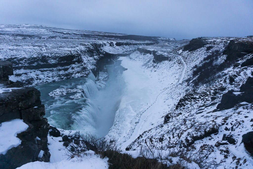 Gullfoss in winter. A winter week in Iceland. Iceland in January. 35 Photos that will make you want to go to Iceland in winter.