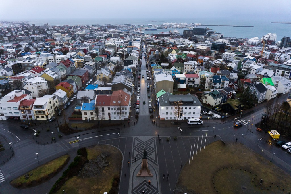 The view from Hallgrimskirkja. A winter week in Iceland. Iceland in January. 35 Photos that will make you want to go to Iceland in winter.