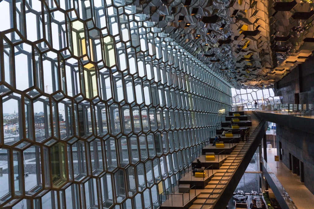 Harpa in Reykjavik. A winter week in Iceland. Iceland in January. 35 Photos that will make you want to go to Iceland in winter.