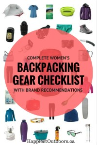 Complete women's backpacking gear checklist with specific brand recommendations. See the gear I actually use!